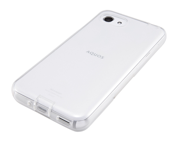 AQUOS R compact TPUソフトケース コネクタキャップ付き 3