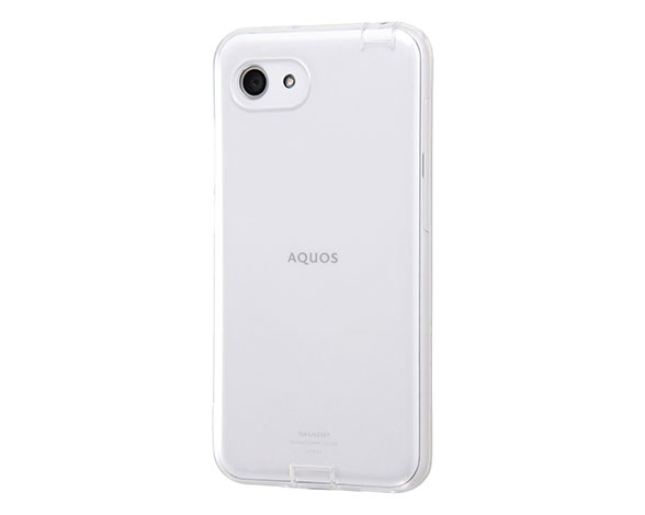 AQUOS R compact TPUソフトケース コネクタキャップ付き 2