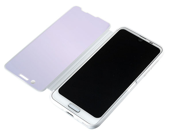 AQUOS Frosted Cover for AQUOS R2/Platinum White 3