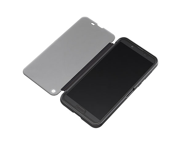 AQUOS Frosted Cover for AQUOS sense2 SHV43/Nuance Black 3