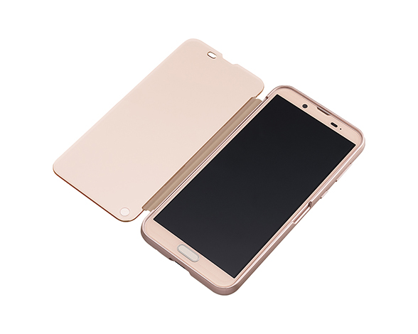 AQUOS Frosted Cover for AQUOS sense2 SHV43/Pink Gold 3