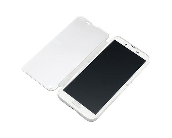 AQUOS Frosted Cover for AQUOS sense2 SHV43/Silky White 3