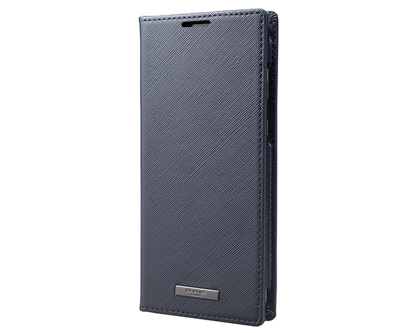 EURO Passione PU Leather Book Case for AQUOS zero2 NVY